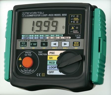 """Kyoritsu KEW Model 6050 - многофункциональный измеритель: измерение сопротивления петли """"фаза-ноль"""", тестер УЗО, измерение ожидаемого (предполагаемого) тока короткого замыкания"""