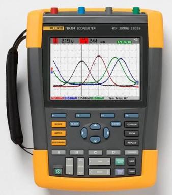 Осциллограф-мультиметр с цветным дисплеем Fluke 190-202