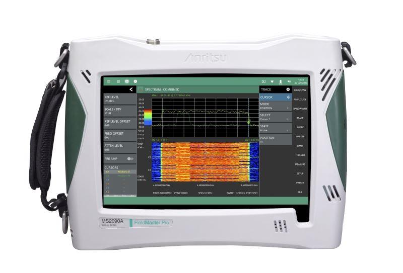 Anritsu представляет Field Master Pro™ MS2090A — портативный анализатор спектра, эффективность которого переопределяет спектральный анализ в полевых условиях