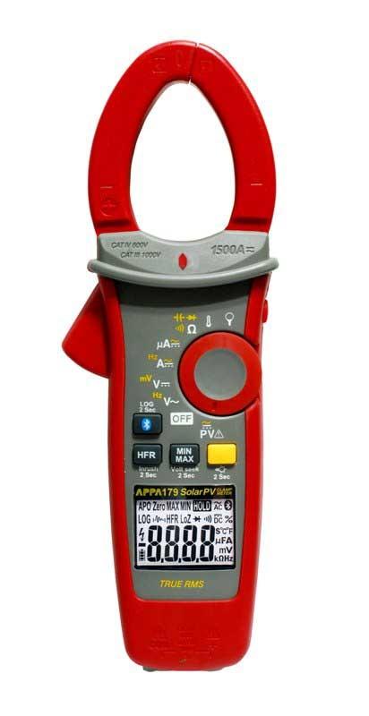Новая серия электроизмерительных клещей APPA 170. Беспроводной интерфейс, регистратор и расширенные диапазоны измерений по току и напряжению