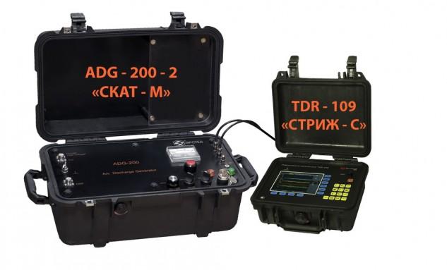 Рефлектометр  TDR-109 «СТРИЖ-С» в комплекте с генератором ADG-200-2 «СКАТ-М»