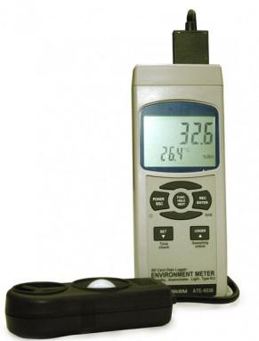 Измеритель влажности,  люксметр, анемометр, измеритель температуры АТЕ-9538