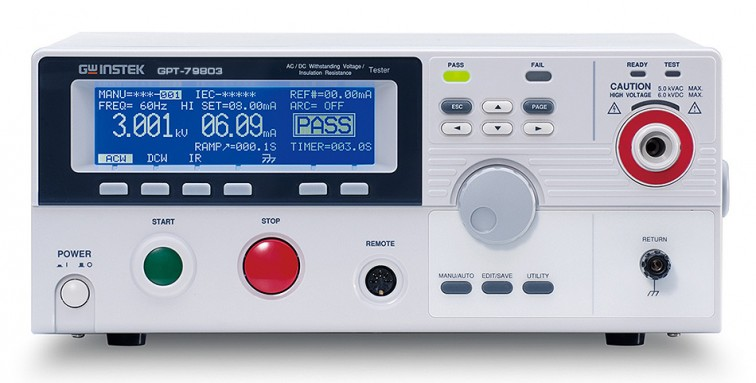 Измеритель параметров безопасности электрооборудования GPT-79803