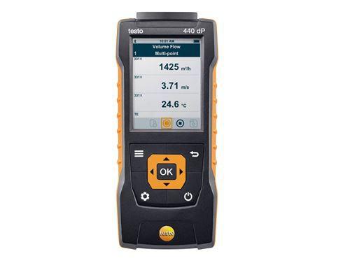 Testo 440 dP Прибор для измерения скорости воздуха и оценки качества воздуха в помещении со встроенным сенсором дифференциального давления