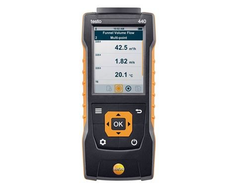 Testo 440 Прибор для измерения скорости воздуха и оценки качества воздуха в помещении