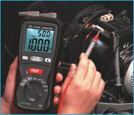 Мегаомметр DT-5505 - измерение
