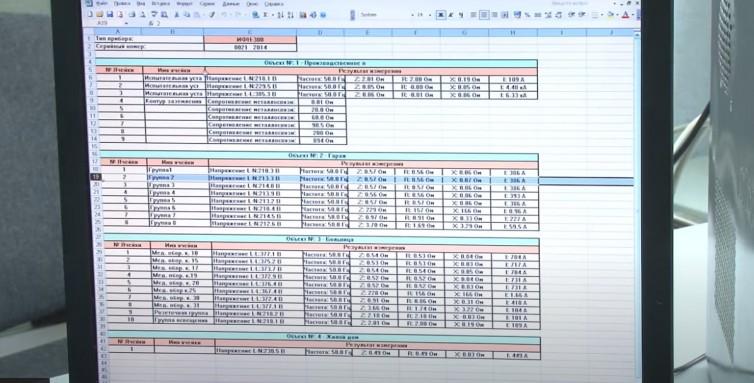 сохранение измерений в файл