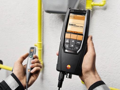 Измерение окружающего CO Анализатором testo-320