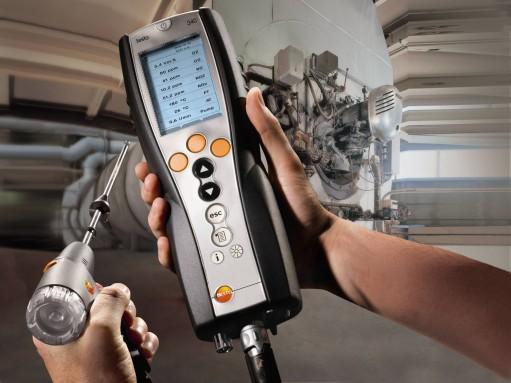 Измерение Анализатором газов Testo 340