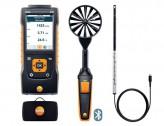 Testo 440 Прибор для измерения скорости воздуха и оценки качества воздуха в помещении. Комплект для вентиляции № 1 с Bluetooth крыльчаткой 100мм (0635 9431), зондом с обогреваемой струной (0635 1032) и кейсом (0516 4401)