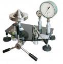 Манометр грузопоршневой МП-250 кл.т. 0,02; g 9,8145 м/с2,   в комплекте с разделителем сред РГБ и дополнительными. грузами (10 шт по 0,1 МПа)